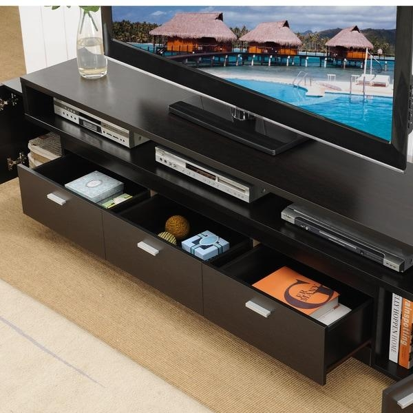 Furniture Of America 84 Inch Peyton Modern Tiered Tv Stand – Free Intended For Recent 84 Inch Tv Stand (Image 12 of 20)