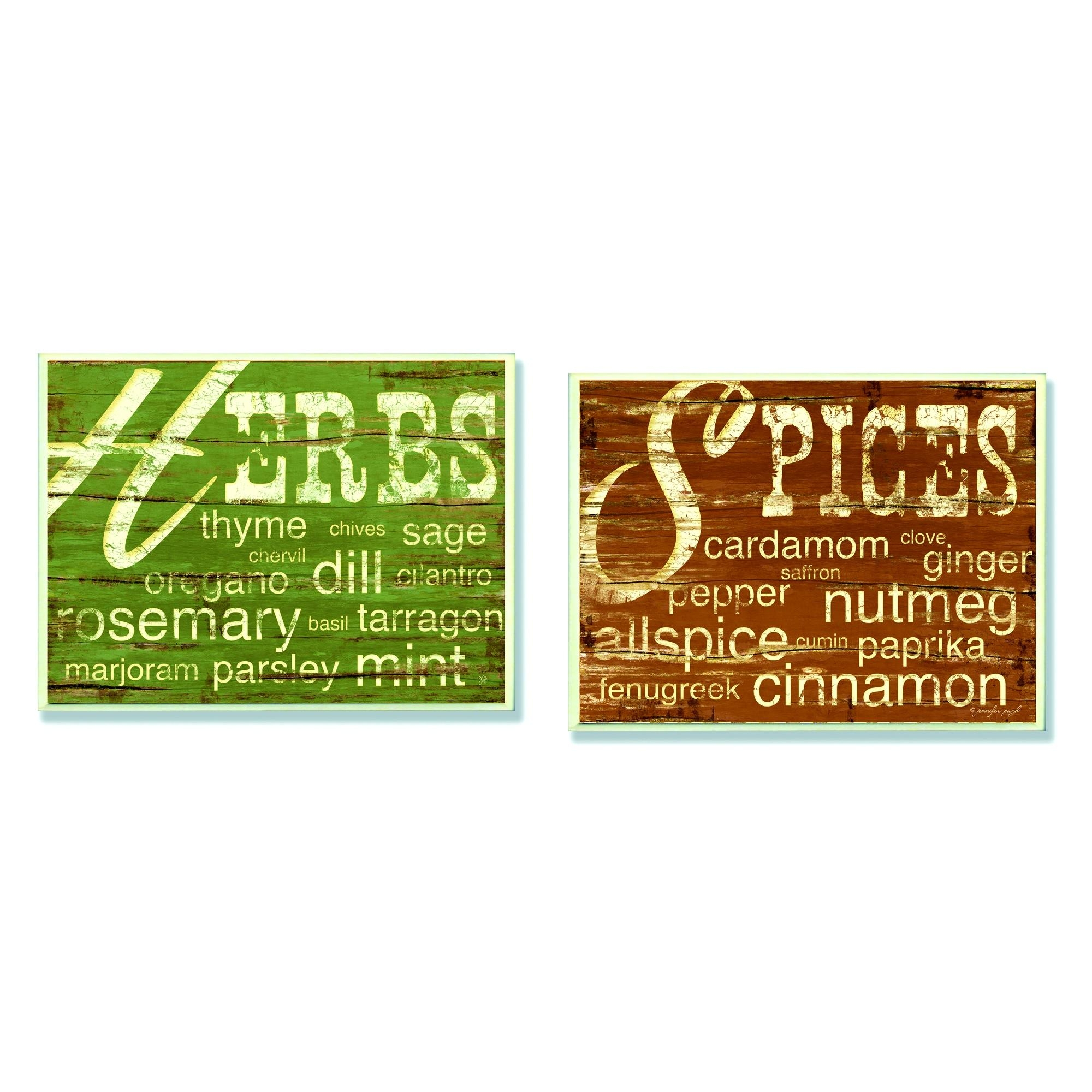 Furniture : Ravishing Kitchen Herbs And Words Spices Wall Plaques With Regard To Italian Words Wall Art (Image 7 of 20)