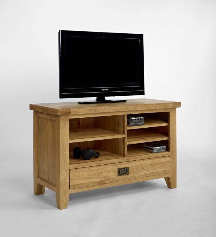 Furniture. Small Oak Tv Stand Cabinet And Shelves (Image 12 of 20)