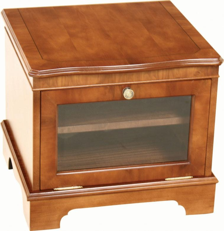 Furniture. Small Square Tv Stand With Glass Door (View 2 of 20)