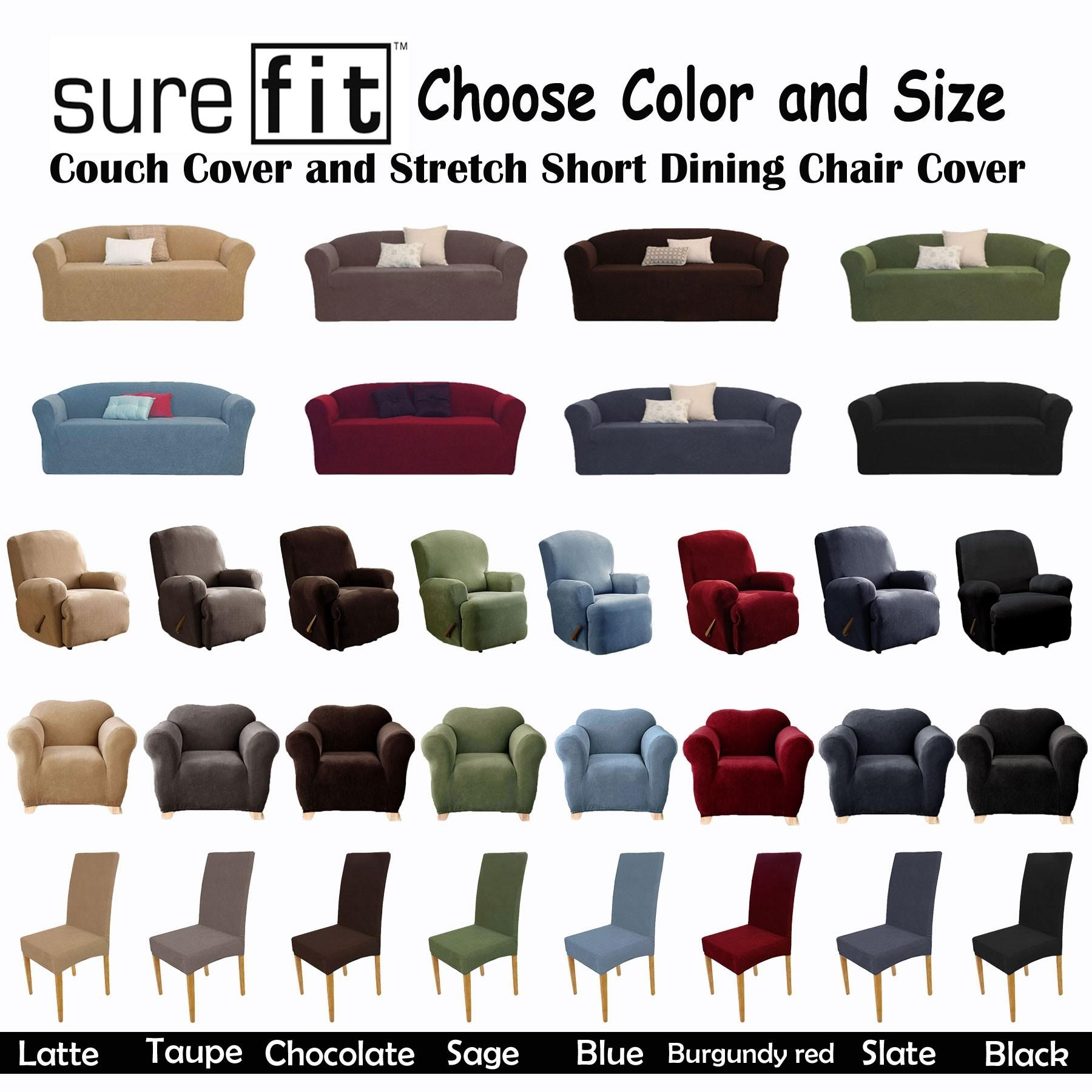 Furniture & Sofa: Stunning Sure Fit Sofa Covers Design For Regarding Large Sofa Slipcovers (Image 4 of 23)