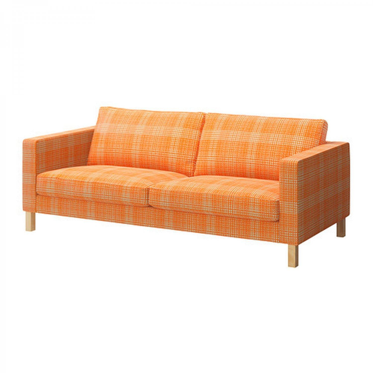 Furniture: Stunning Ikea Karlstad Sofa Cover For Your Sofa Need Within Orange Ikea Sofas (View 20 of 20)