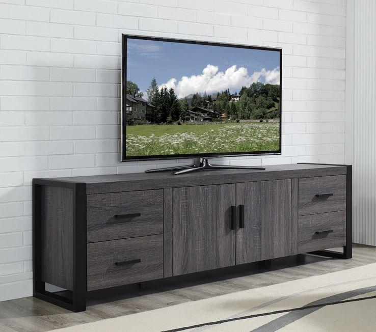 Furniture Tv Stands Television Stands T.v. Stands Entertainment pertaining to Recent Grey Wood Tv Stands