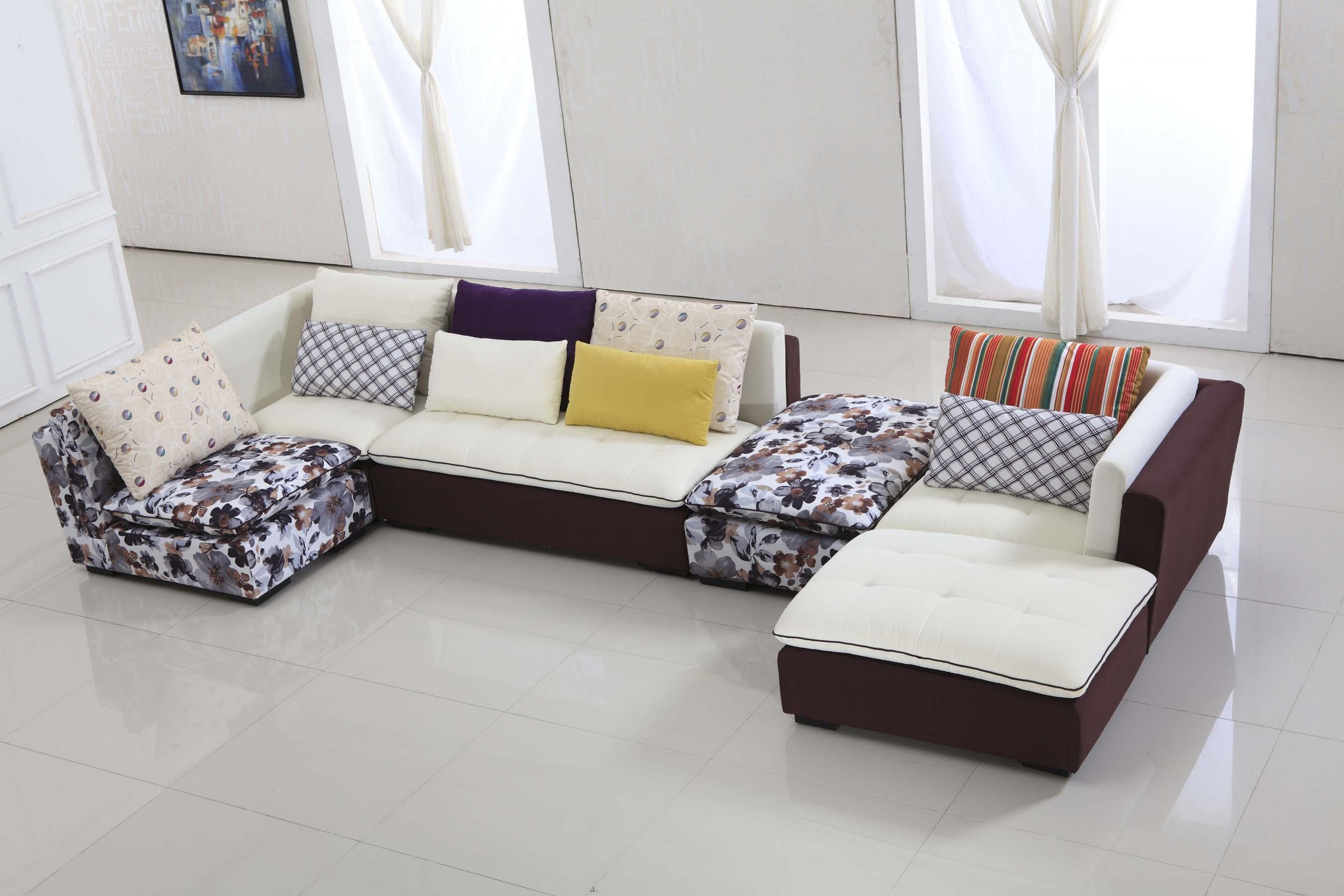 Furniture Unique Modern Brown Fabric Sofa For Living Room The Pertaining To Unique Corner Sofas (View 2 of 21)