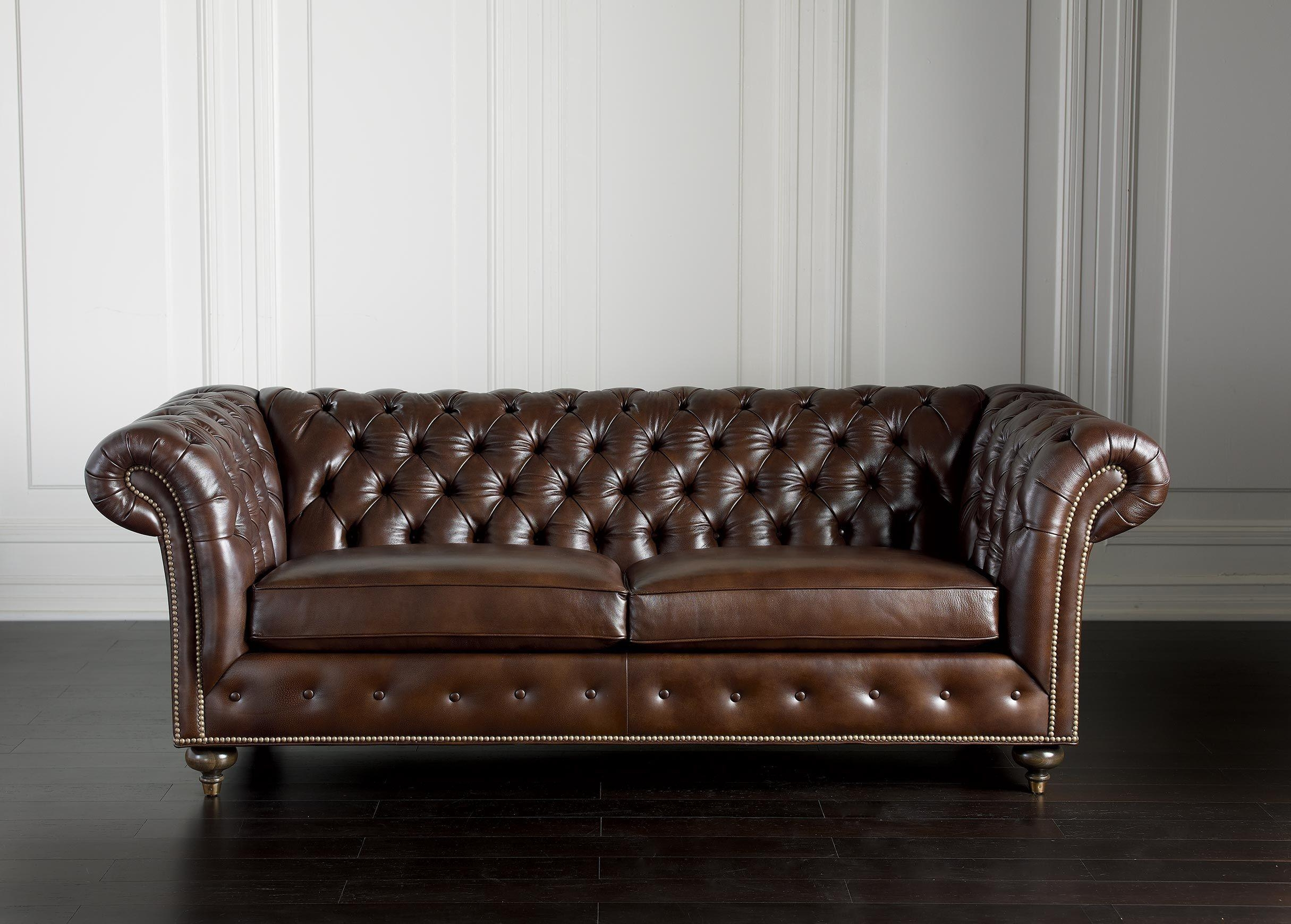 Furniture: Urban Leather Brown Retro Tufted Couches Within Cheap Tufted Sofas (View 9 of 23)