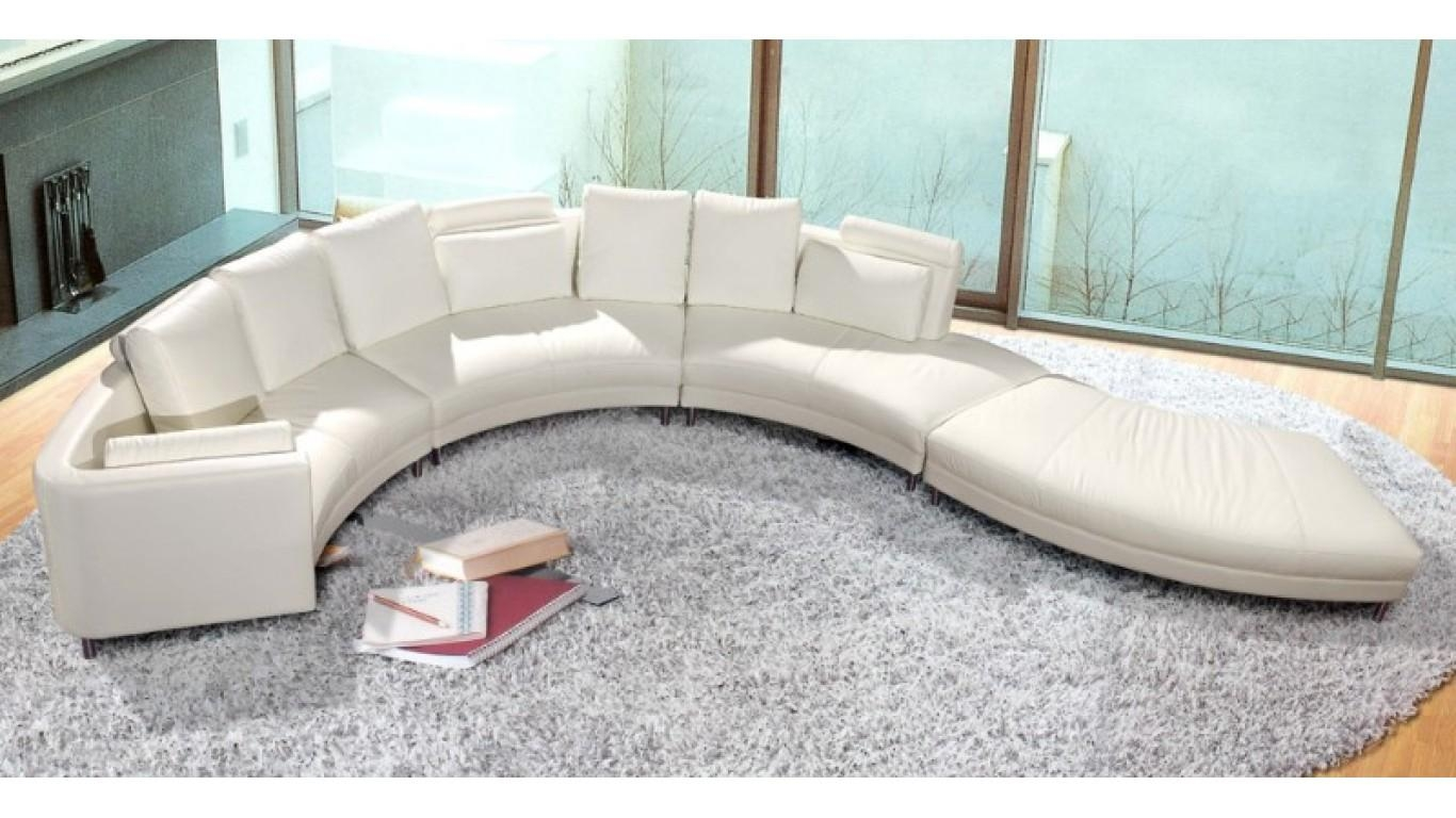 Furniture: Using Curved Sectional Sofa For An Exciting Living Room With White Sectional Sofa For Sale (Image 7 of 21)