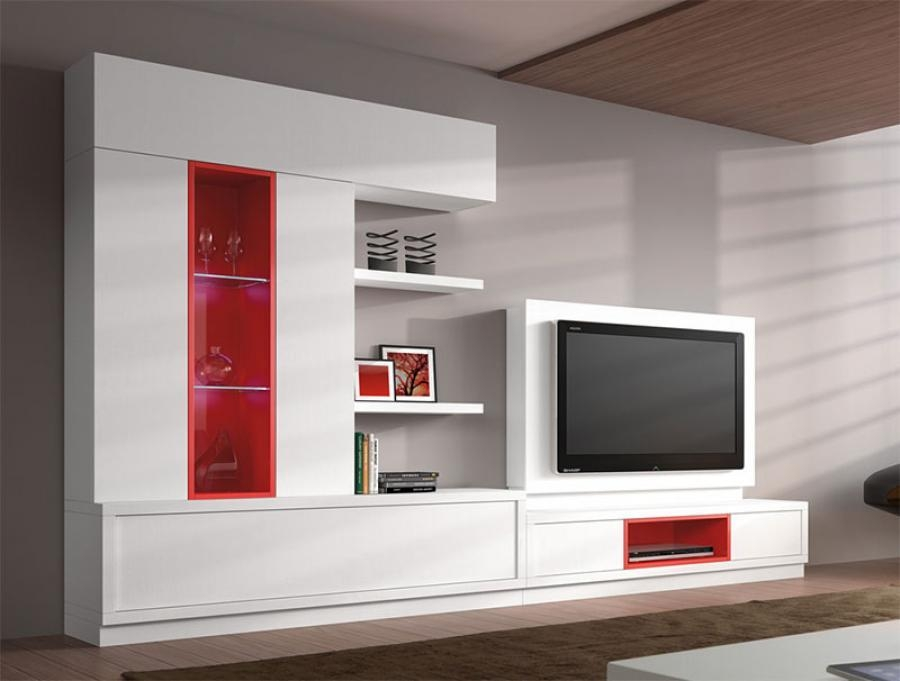 Furniture: White Living Room Storage Unit With Tv Cabinet And Open With 2018 Tv Units With Storage (Image 11 of 20)