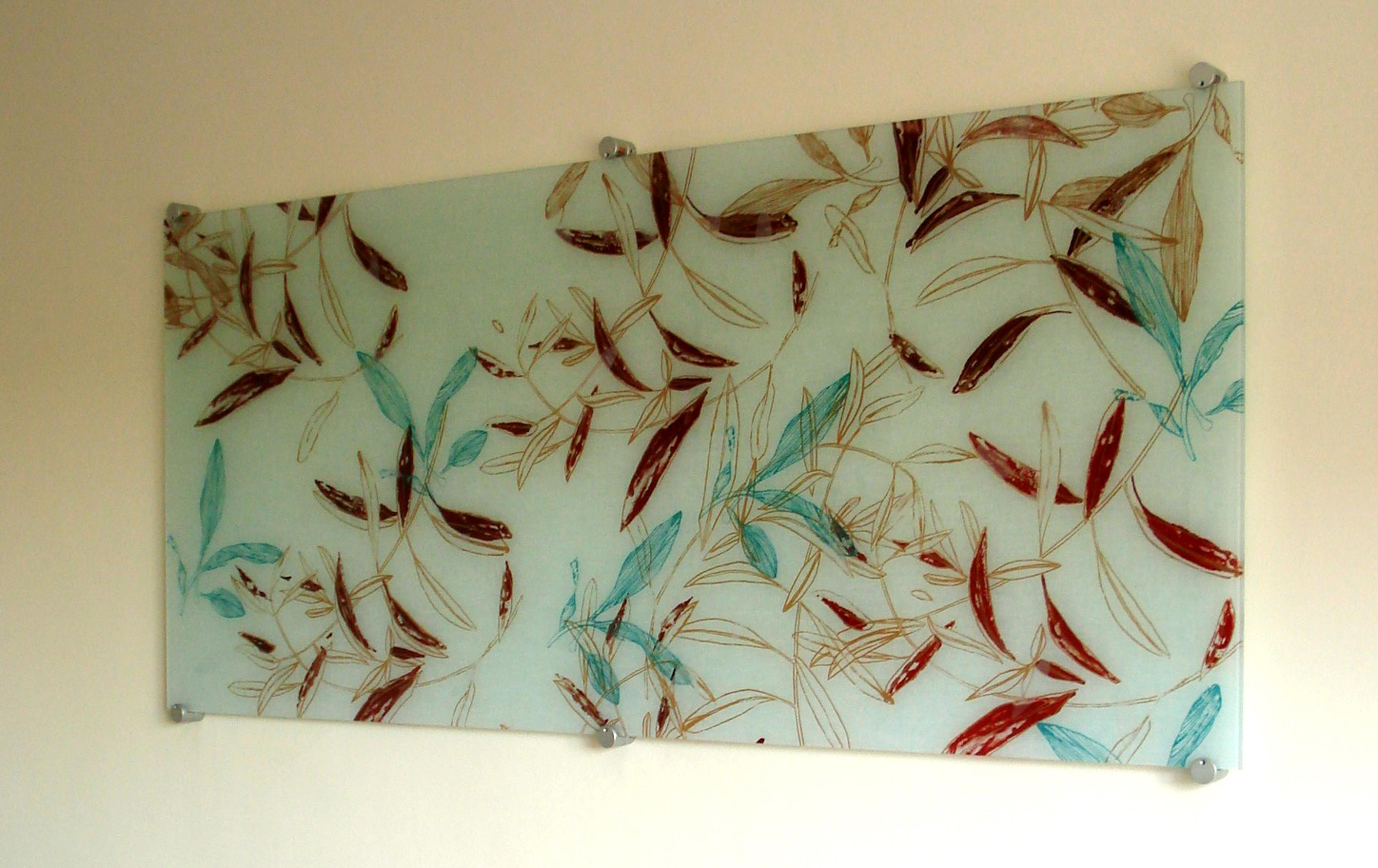 Fused Glass Textile Panels » Michèle Oberdieck – Printed Textile Inside Fused Glass Wall Artwork (Image 16 of 20)