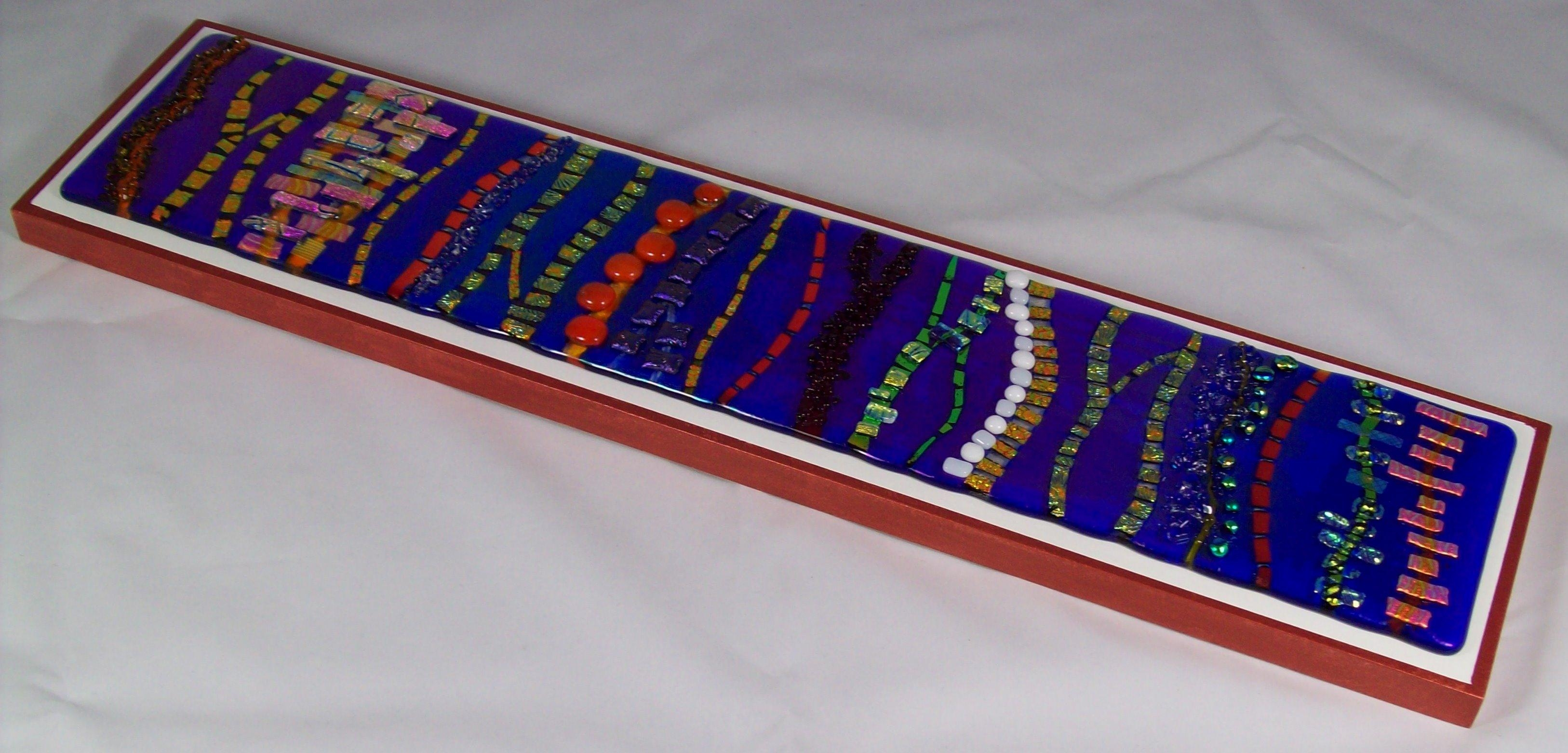 Fused Glass Wall Art #wl34 With Purple Fused Glass Wall Art (View 8 of 20)