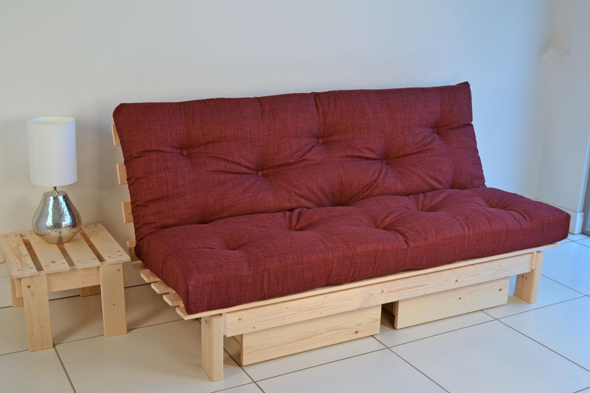 Futon Sofa Bed Backless Modern Regarding Fulton Sofa Beds (Image 10 of 21)