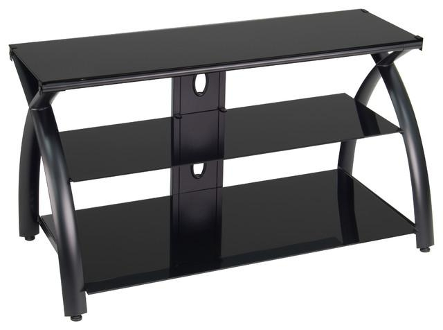 Futura Tv Stand – Modern – Entertainment Centers And Tv Stands Regarding Most Recently Released Black Glass Tv Stands (View 5 of 20)