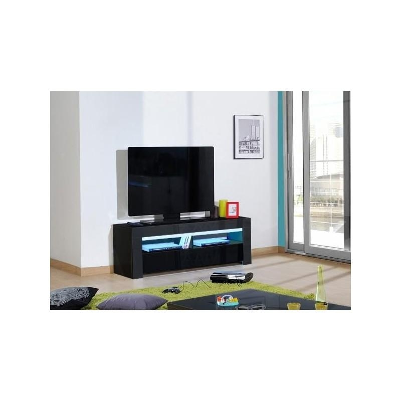 Gala – Black High Gloss Tv Unit With Led Lights – Tv Stands – Sena For Best And Newest Black Gloss Tv Units (View 14 of 20)