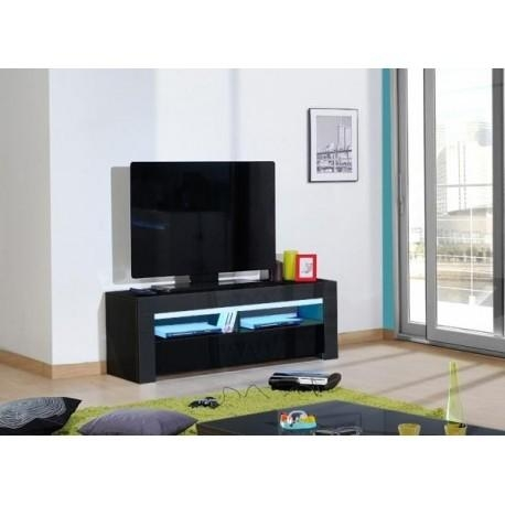 Gala – Black High Gloss Tv Unit With Led Lights – Tv Stands – Sena With Regard To Recent Black High Gloss Corner Tv Unit (Image 6 of 20)