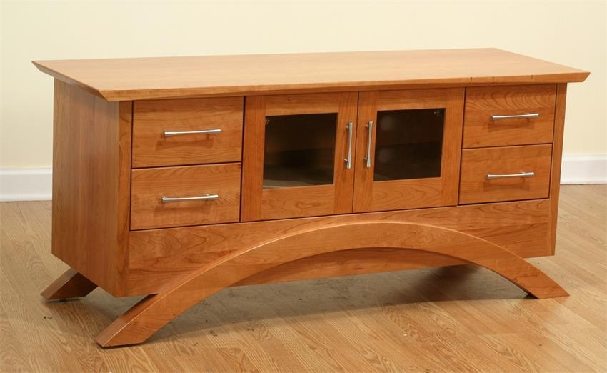 Gateway Media Tv Stand Cabinet Regarding Most Popular Maple Tv Cabinets (Image 4 of 20)