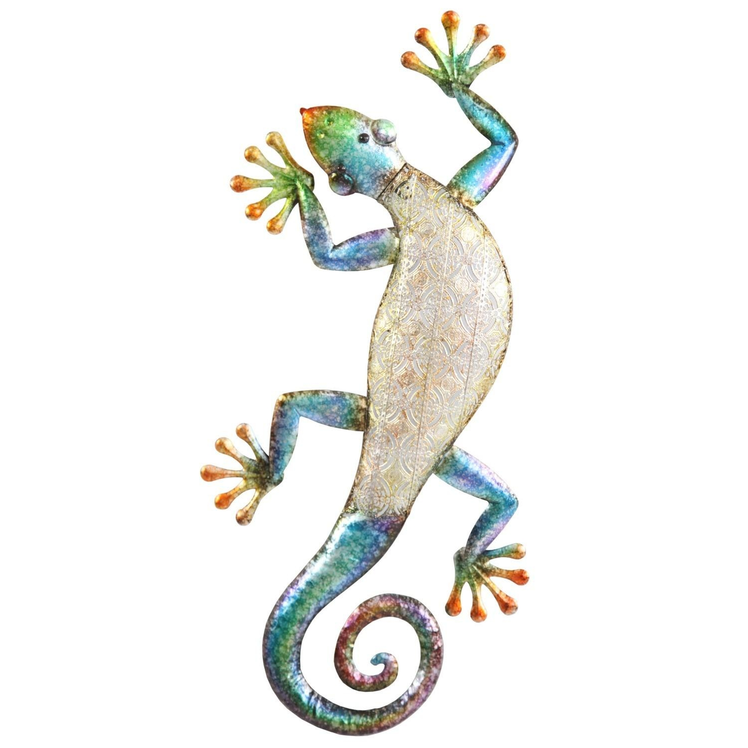 Gecko Metal Wall Art Within Gecko Outdoor Wall Art (View 14 of 20)