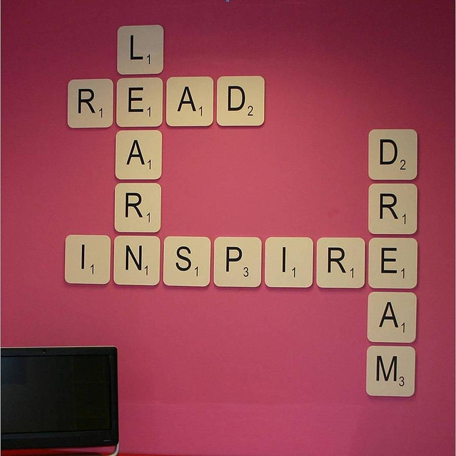 Giant Scrabble Wall Lettercopperdot | Notonthehighstreet Inside Scrabble Letter Wall Art (View 8 of 20)