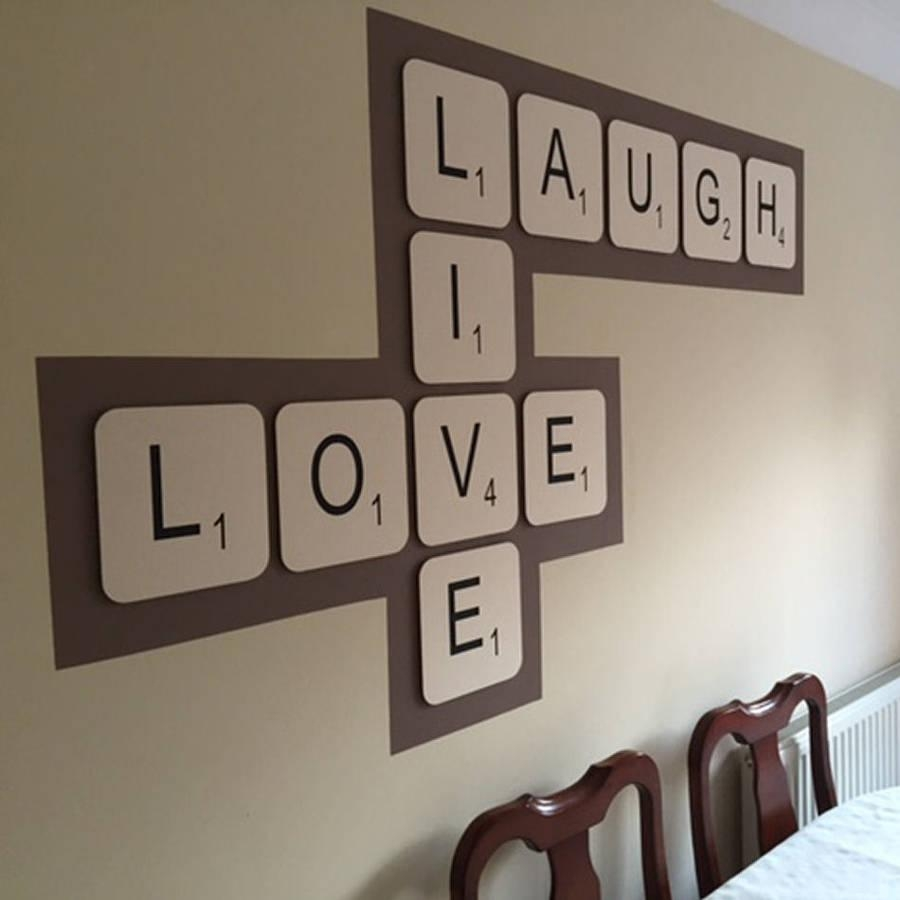 Giant Scrabble Wall Lettercopperdot | Notonthehighstreet With Regard To Scrabble Names Wall Art (View 9 of 20)