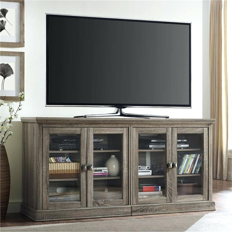 Glass And Oak Tv Stand – Effluvium With Most Up To Date Light Oak Tv Stands Flat Screen (Image 6 of 20)