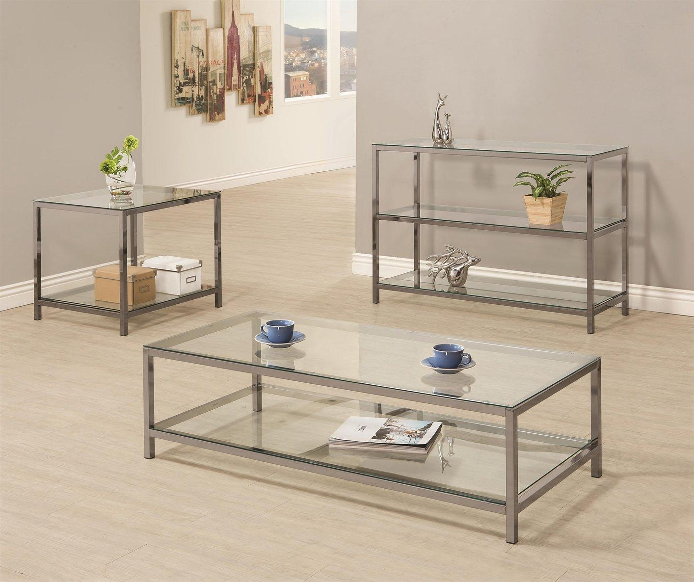 Glass Sofa Table 3 Set | Med Art Home Design Posters For Metal Glass Sofa Tables (View 4 of 22)