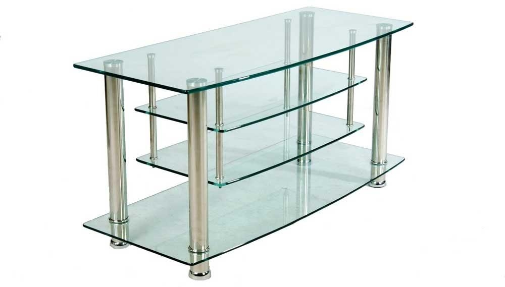 Glass Tv Stand For Elegant Furniture | Exist Decor For Most Up To Date Clear Glass Tv Stand (Image 9 of 20)