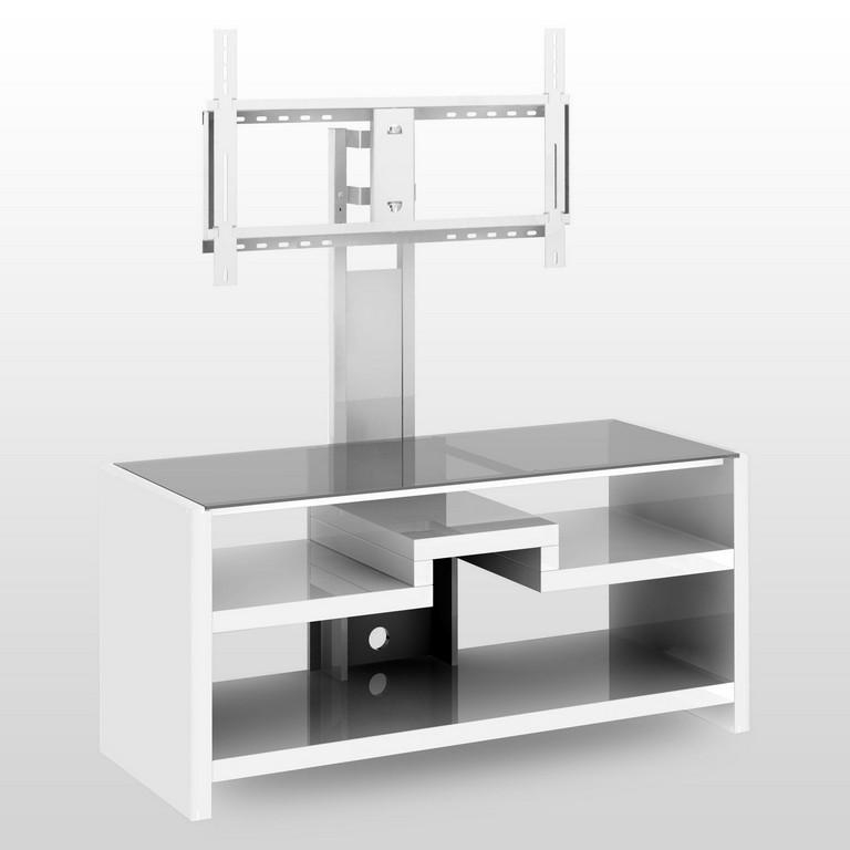 Glass Tv Stands. Alcove 3Tier Tv Stand With Glass Shelves. (View 15 of 20)