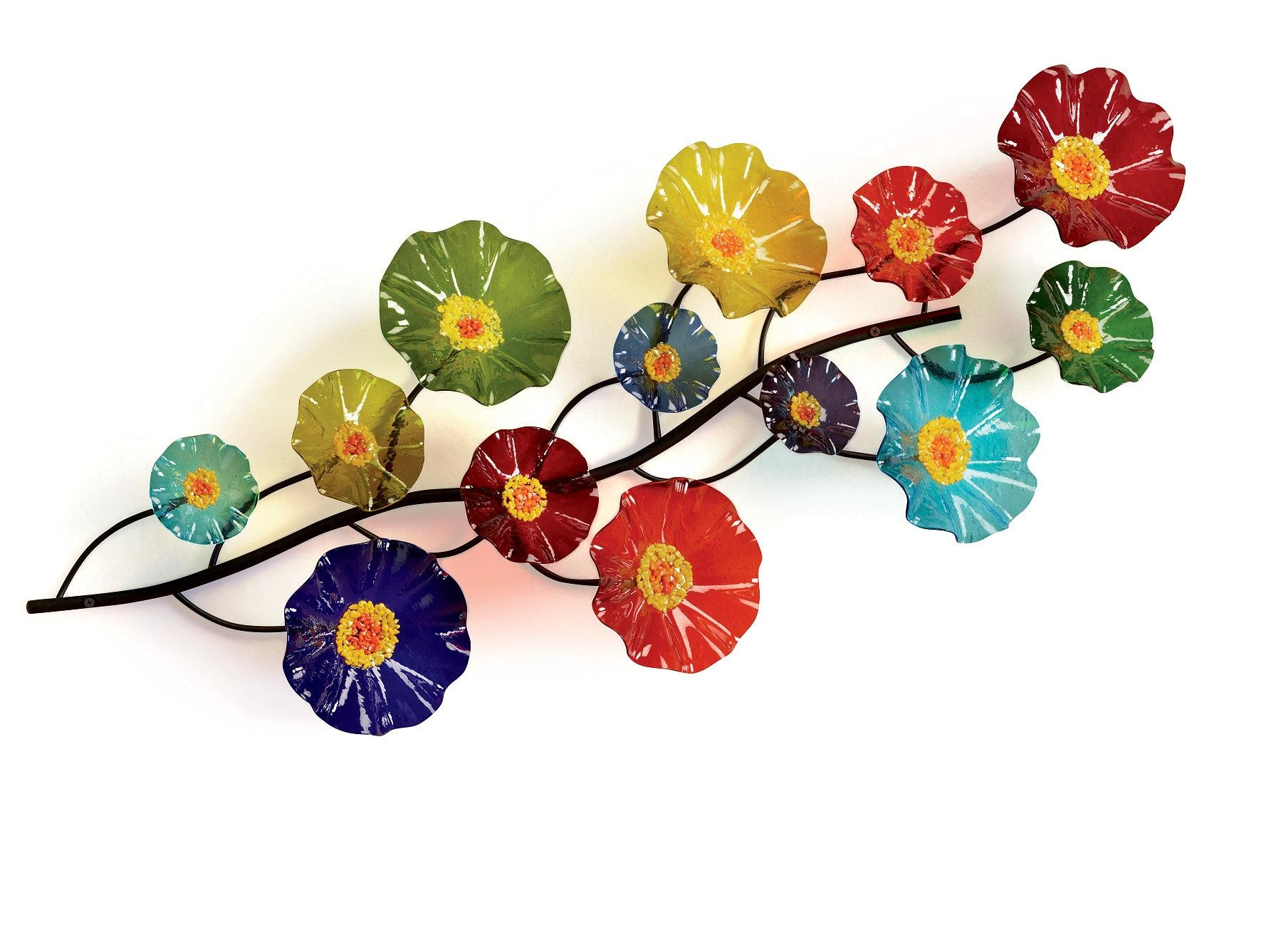 Glass Wall Artnorth American Artists | Artful Home For Fused Glass Flower Wall Art (View 16 of 20)