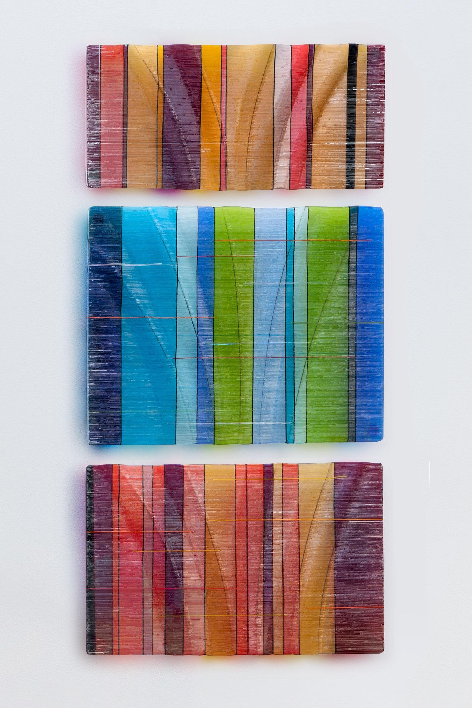 Glass Wall Artnorth American Artists | Artful Home In Fused Glass And Metal Wall Art (View 3 of 20)