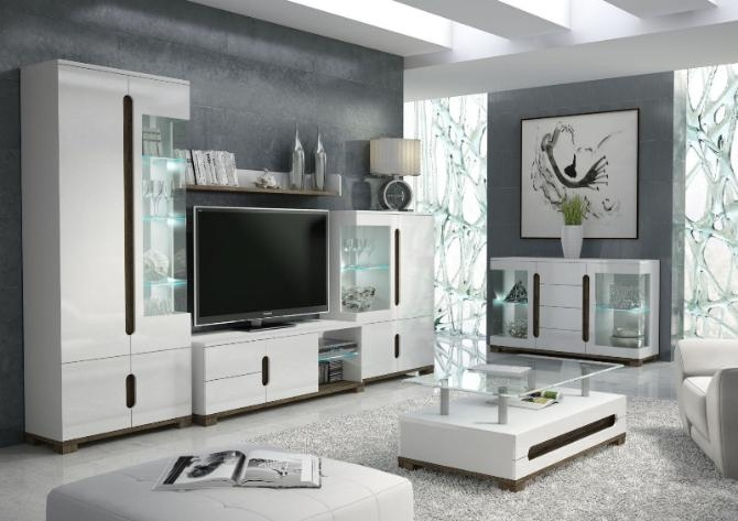 Gloss Tv Display Unit With Lights – Tv Cabinets – Best Deal With 2017 Tv Display Cabinets (Image 10 of 20)