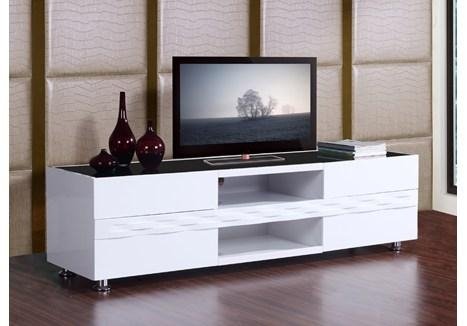 Glossy White Tv Stand Nelly Modern White Glossy Tv Stand (Image 7 of 20)