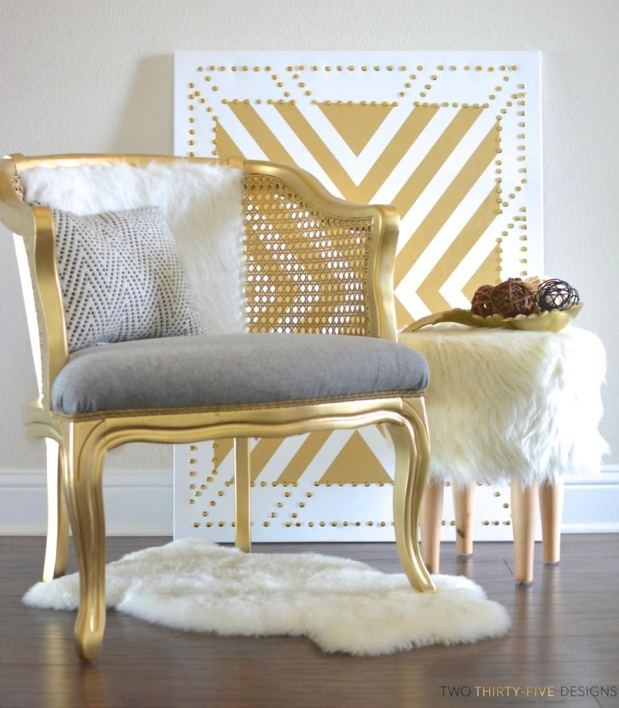 Gold Cane Chair – Two Thirty~Five Designs With Regard To White Cane Sofas (Image 12 of 25)