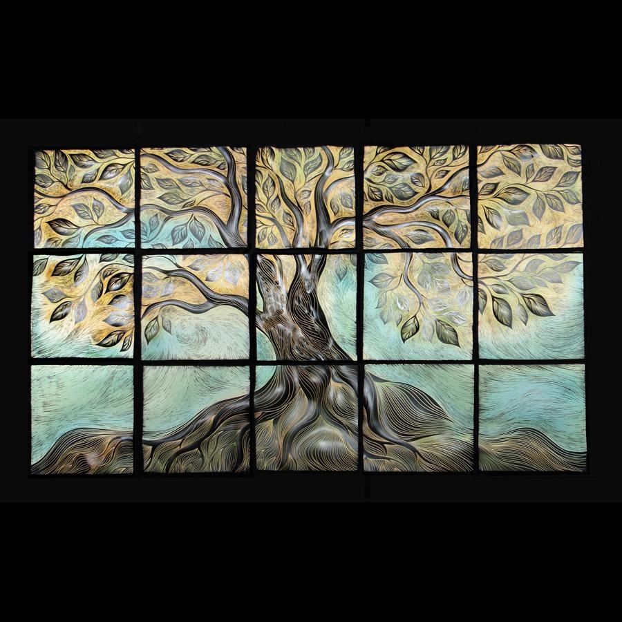 Golden Tree | Natalie Blake Studios In Live Oak Tree Wall Art (Image 12 of 20)