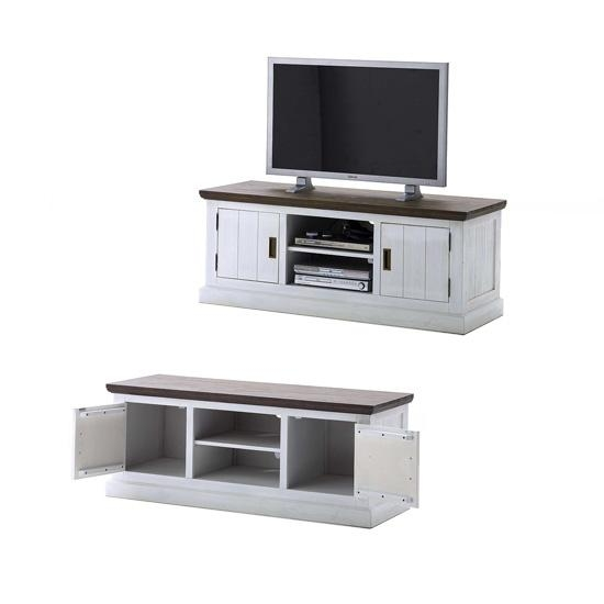 Gomera Tv Stand Lowboard In Wood Acacia 19834 Furniture In With Regard To 2017 White Wood Tv Stands (Image 8 of 20)