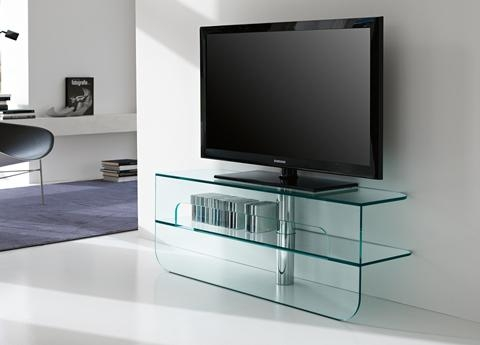Gorgeous Glass Tv Unit Tonelli Plasmatik Tv Unit Tonelli Design Tv Inside Recent Glass Tv Cabinets (View 20 of 20)