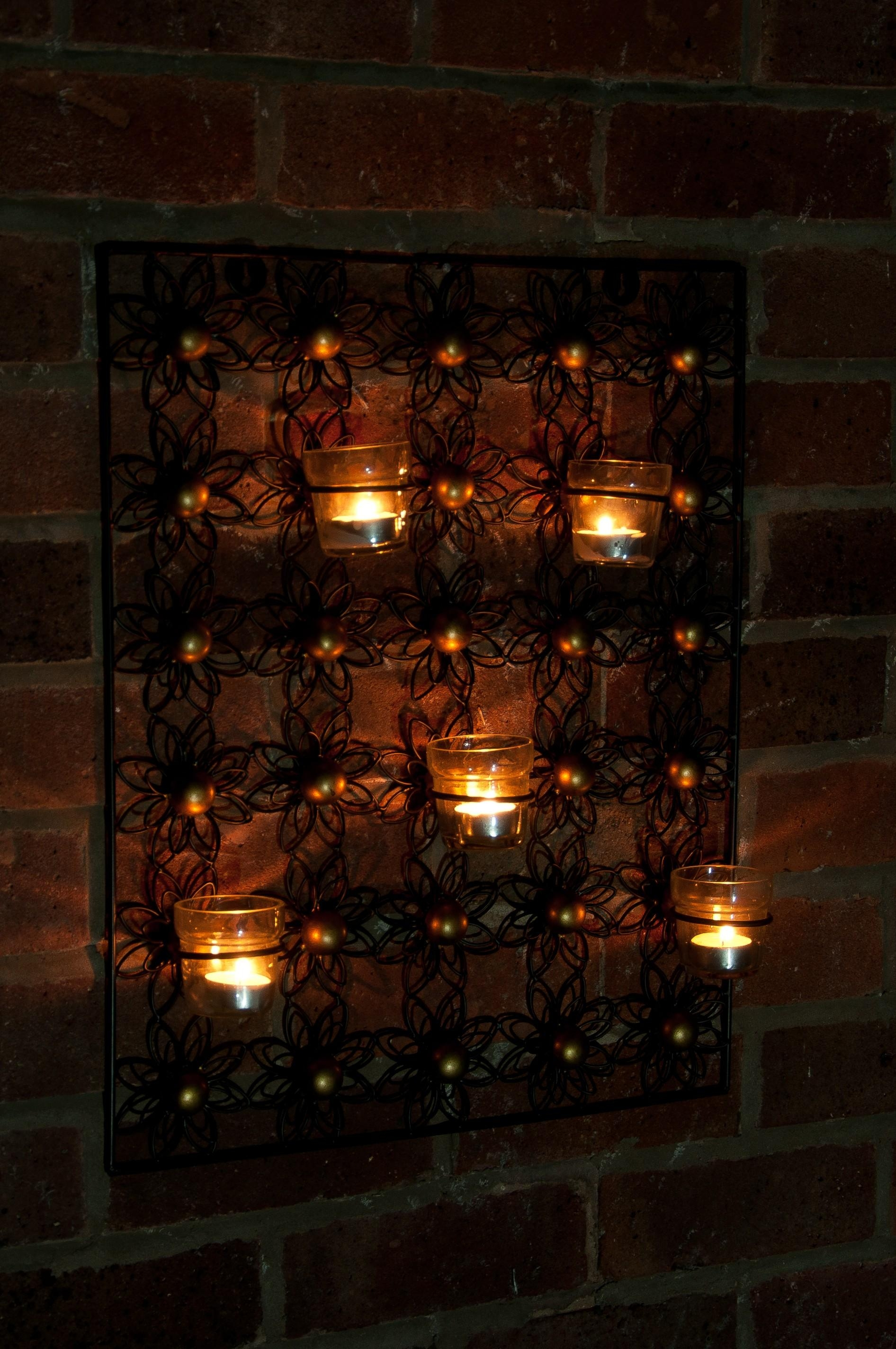 Gorgeous Large Metal Candle Wall Art Birdcage Tea Light Wall Wall In Metal Wall Art With Candles (Image 2 of 20)