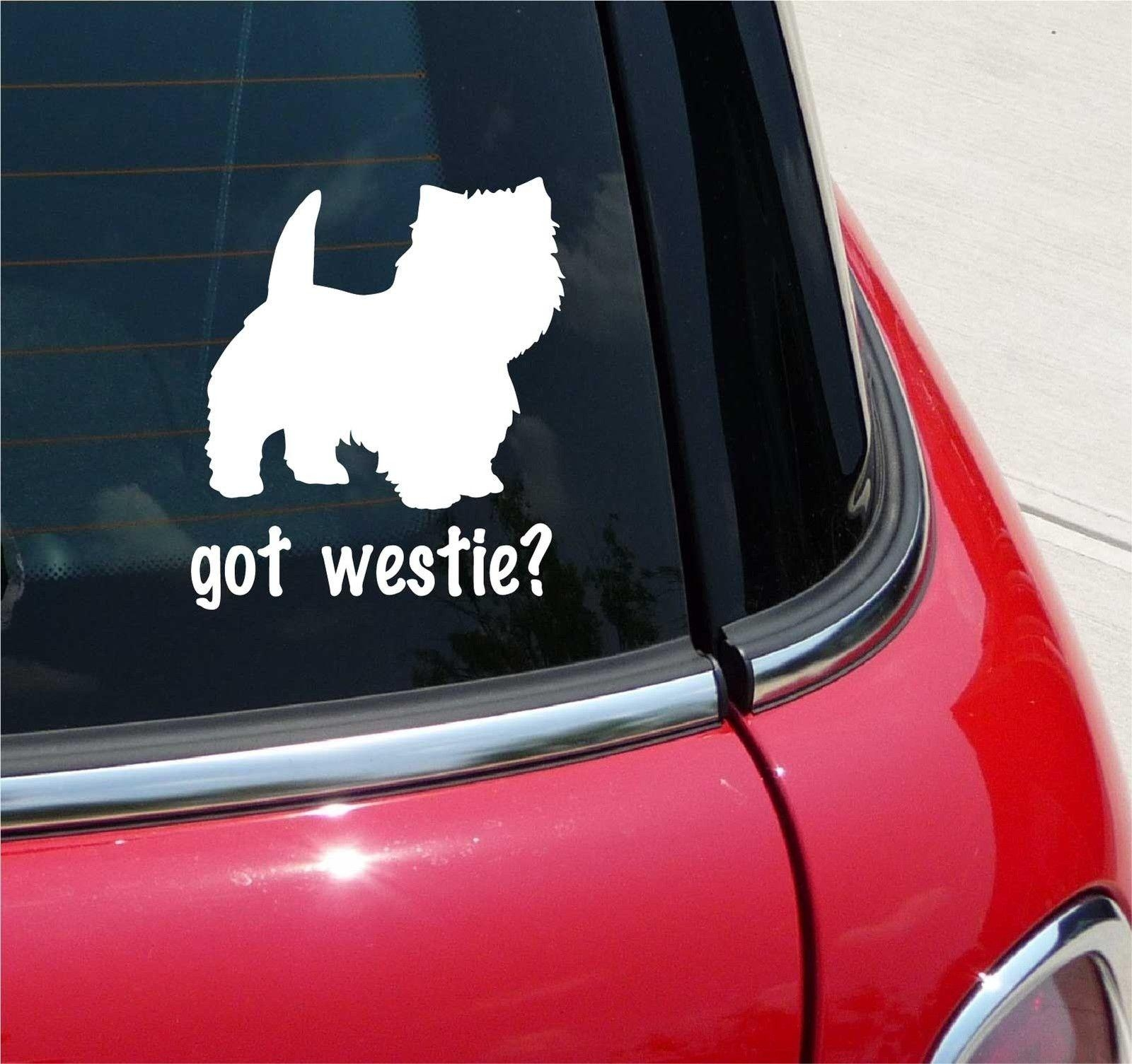 Got Westie West Highland White Terrier Graphic Decal Sticker Art In Westie Wall Art (View 17 of 20)