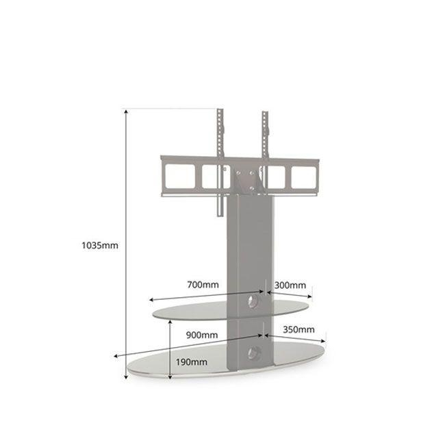 Gradino Cantilever Bracketed Tv Stand Regarding Best And Newest Bracketed Tv Stands (View 18 of 20)