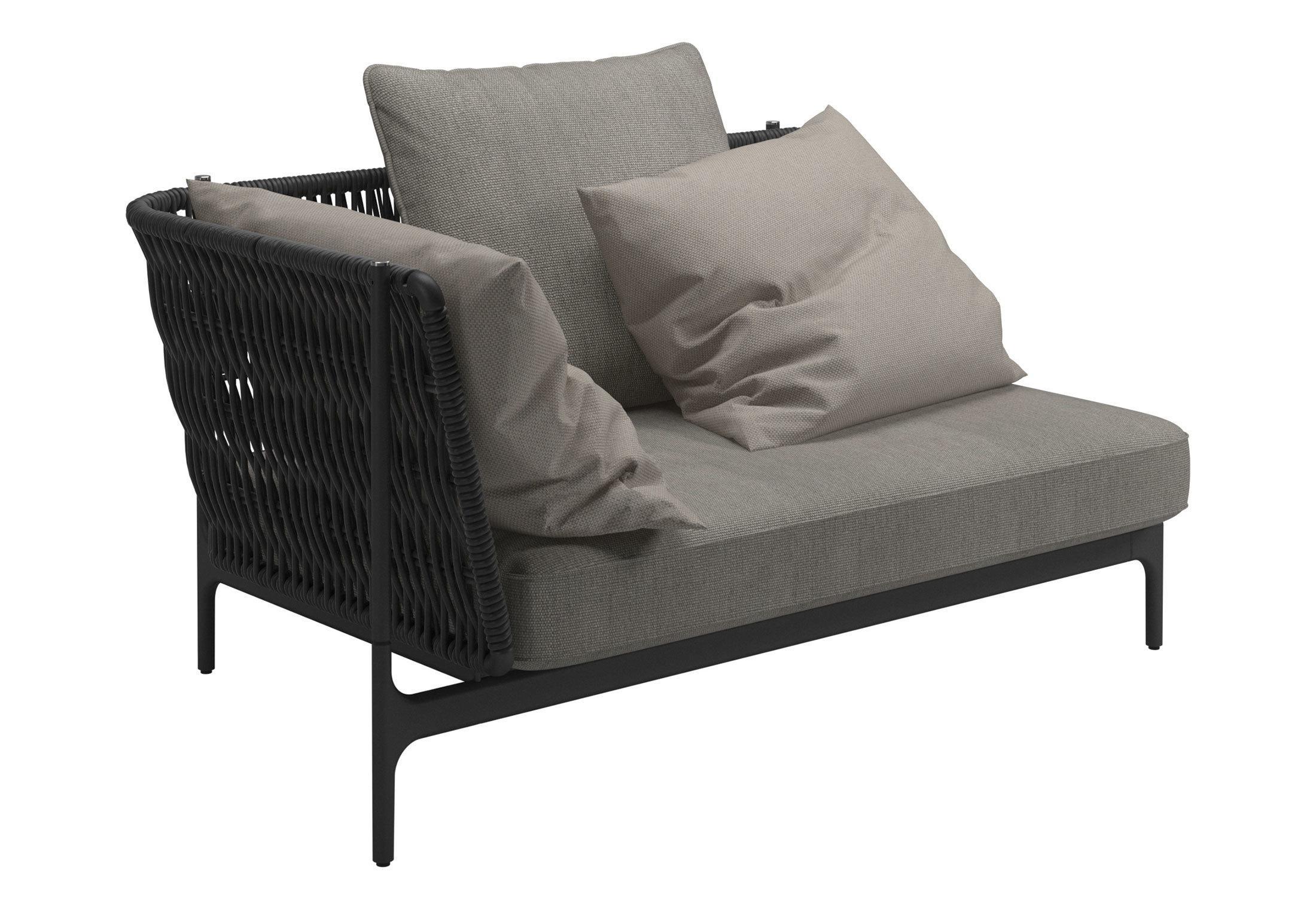 Grand Weave Left Corner Unitgloster Furniture   Stylepark In Sofa Corner Units (Image 11 of 24)
