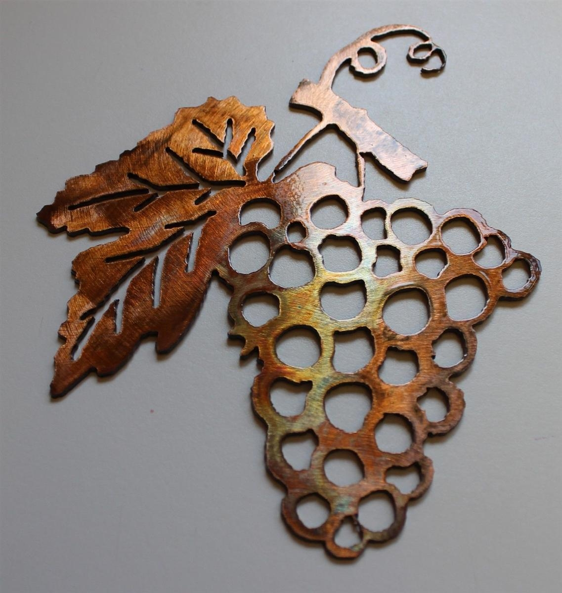 Grape Bushel Copper/bronze Metal Wall Art Intended For Metal Grape Wall Art (Image 4 of 20)