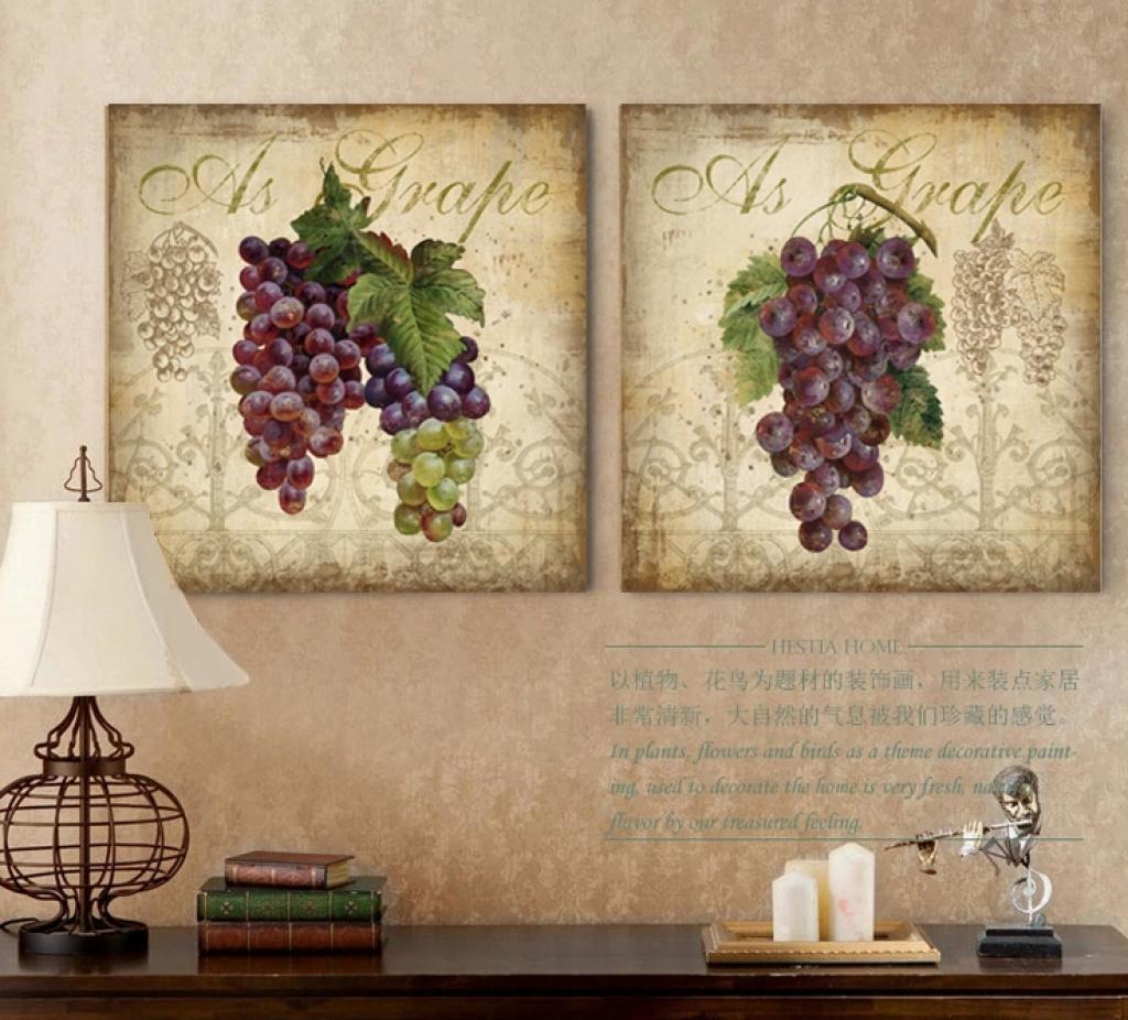 Grape Decor: 20 Ideas Of Metal Grape Wall Art