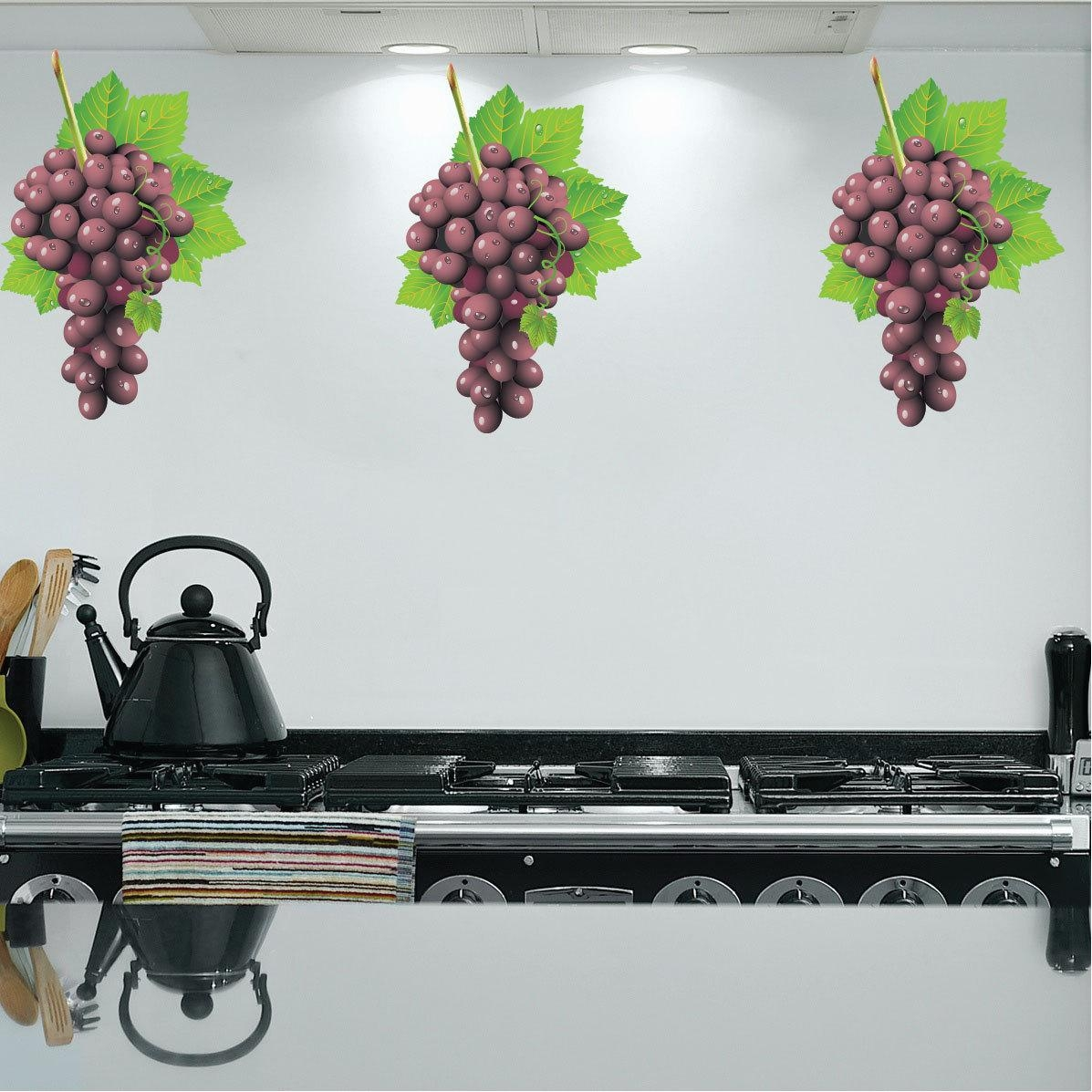 Grape Vine Wall Decals – Furnishings Living Room Tv Wall Stickers Throughout Grape Vine Wall Art (View 9 of 20)