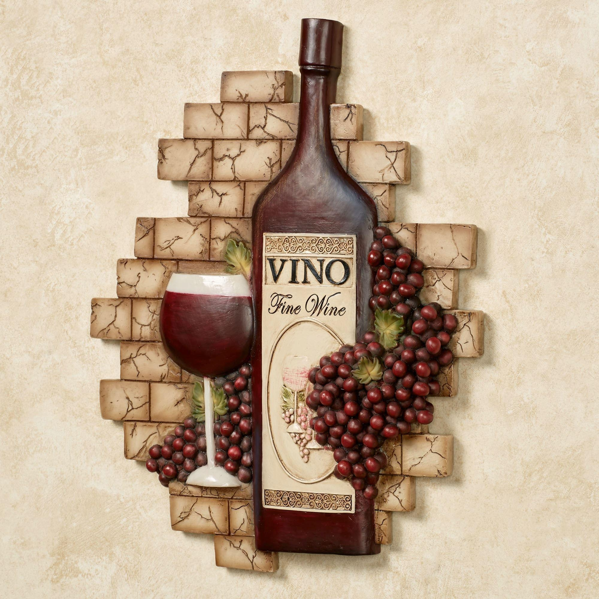 Grapes And Wine Home Decor | Touch Of Class In Grape Vine Metal Wall Art (Image 9 of 20)