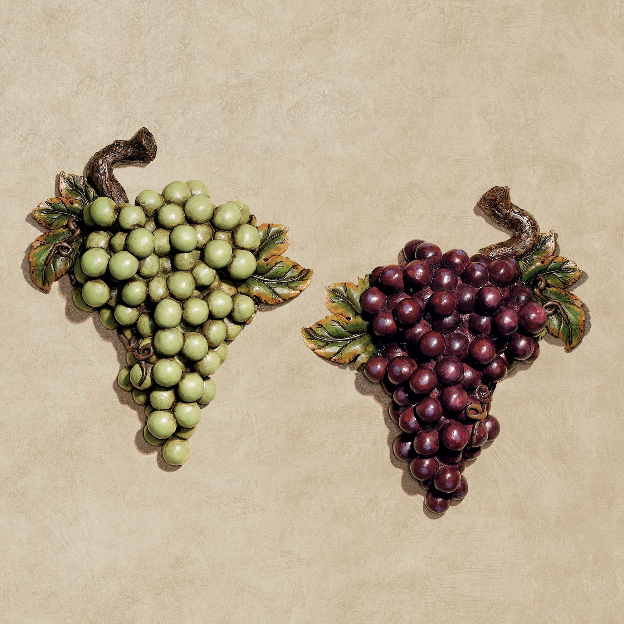 Grapes And Wine Home Decor | Touch Of Class Throughout Metal Grape Wall Art (Image 8 of 20)