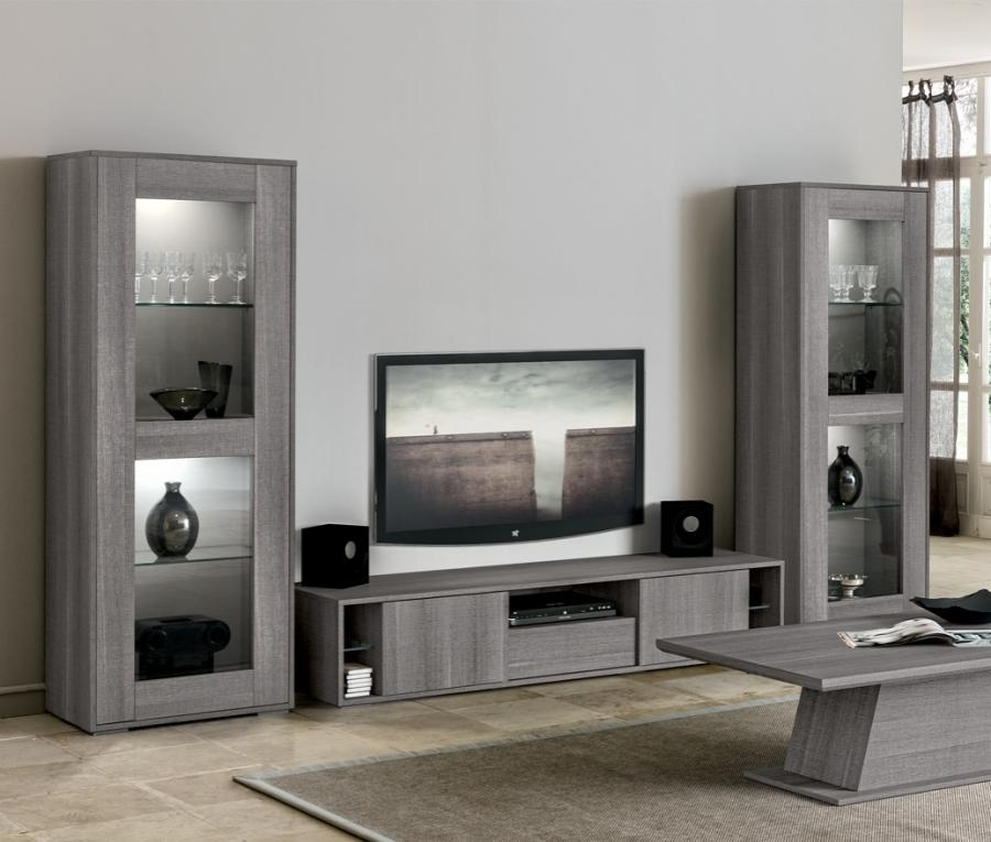 Gray Wall Paint Plus Color Gray Tv Stand Or Tv Cabinet Also Bench Intended For Most Current Modern Tv Cabinets (Image 12 of 20)