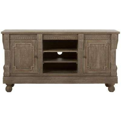 Gray – Wood – Tv Stands – Living Room Furniture – The Home Depot Inside Most Recently Released Grey Wood Tv Stands (Image 15 of 20)