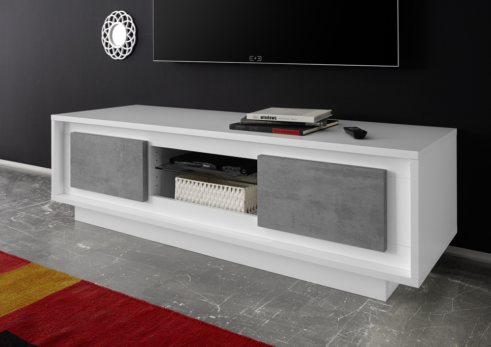 Great Grey Tv Stand : How To Make Grey Tv Stand – Indoor & Outdoor In Best And Newest Grey Tv Stands (Image 10 of 20)