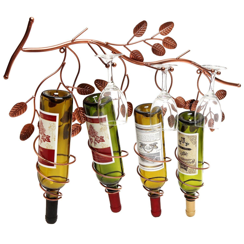 Great Hanging Wine Glass Racks For Saving Space – Wine Gifted Inside Grape Vine Metal Wall Art (Image 11 of 20)