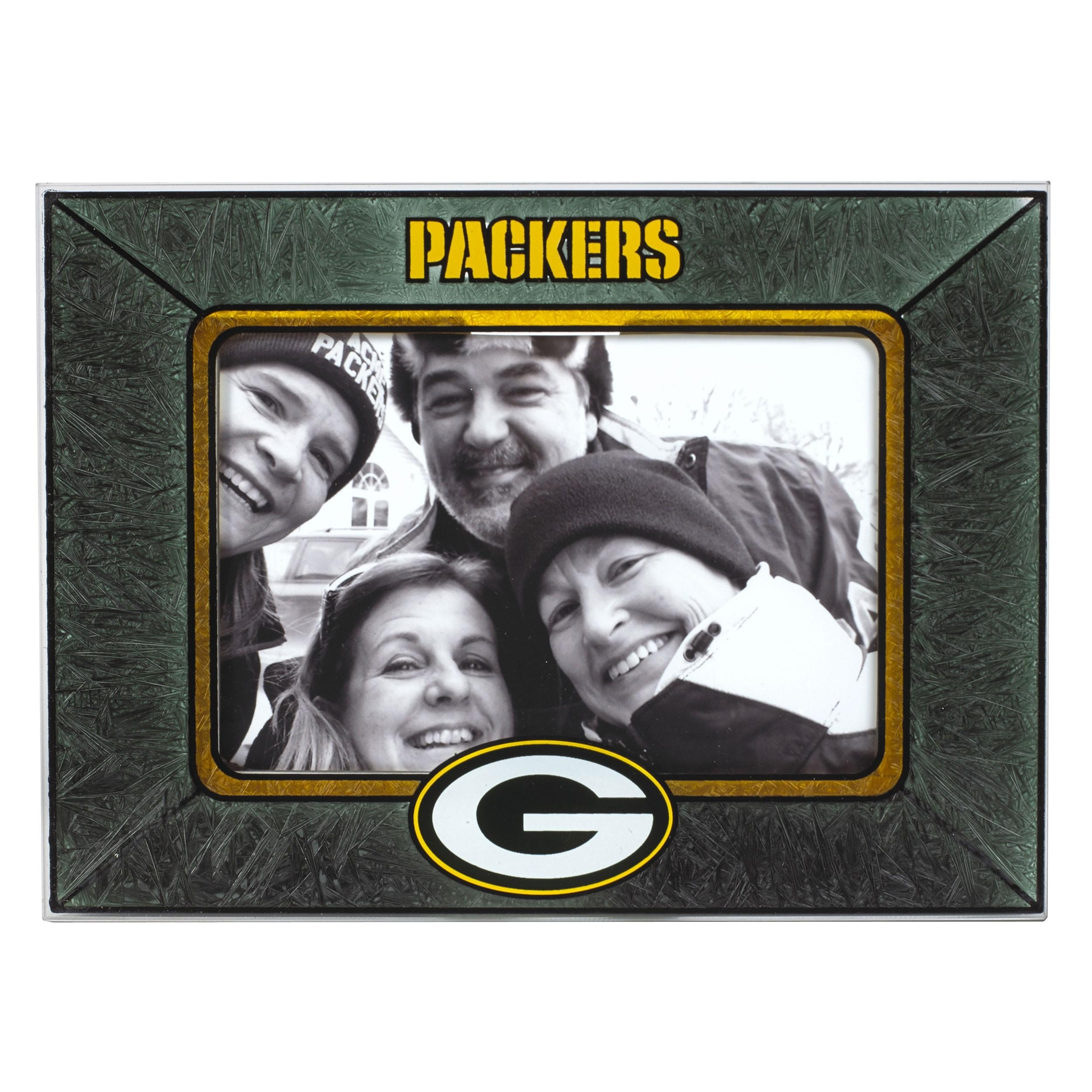 Green Bay Packers Art Glass Frame – Kids' Intended For Green Bay Packers Wall Art (View 13 of 20)