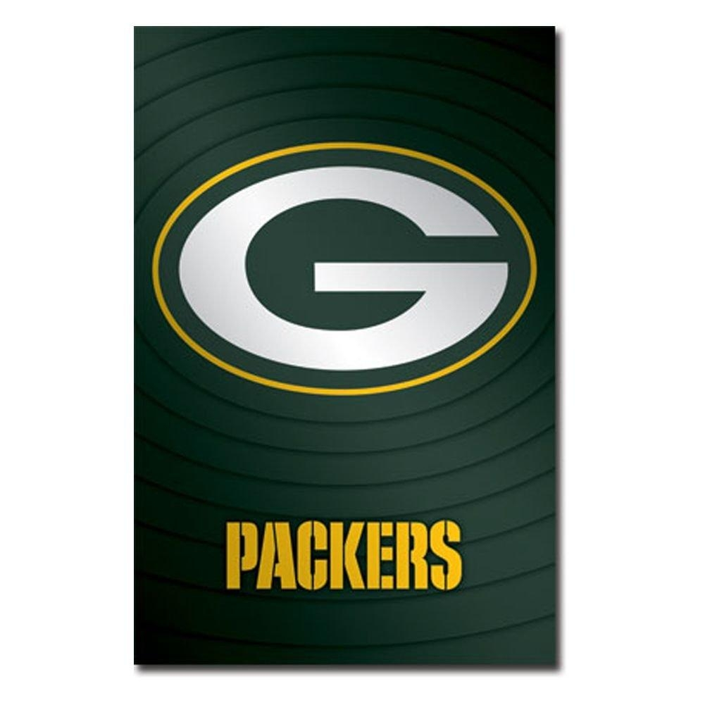 Green Bay Packers Logo 11 Wall Poster With Green Bay Packers Wall Art (Image 8 of 20)