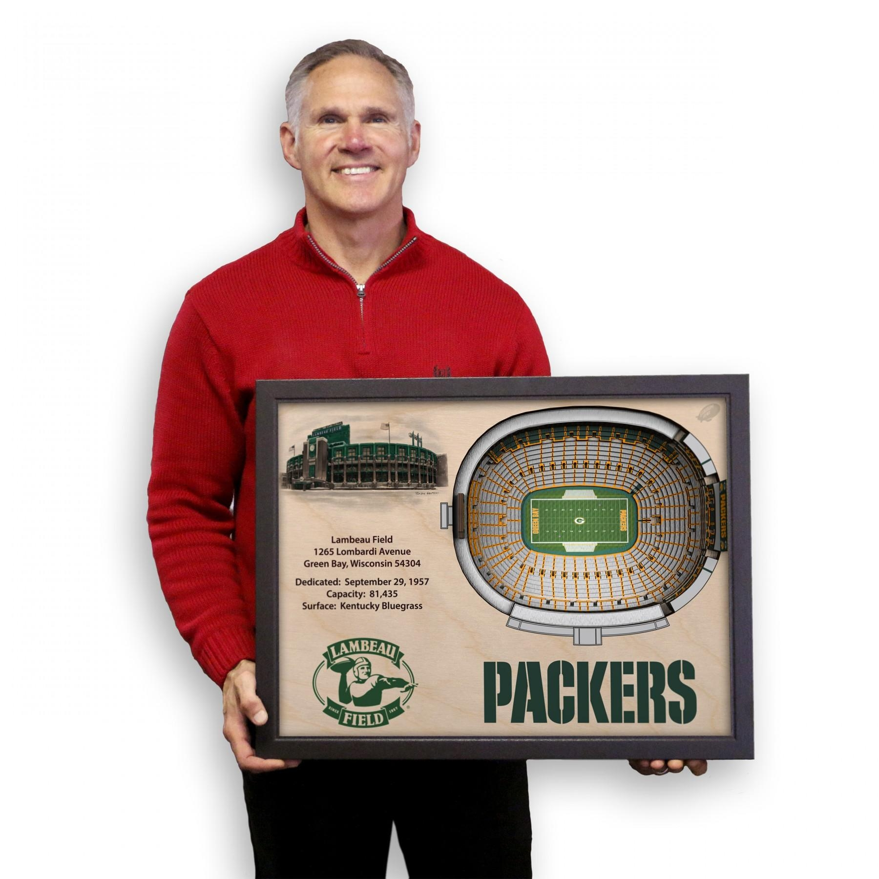 Green Bay Packers Stadiumview Wall Art – Lambeau Field 3 D For Green Bay Packers Wall Art (Image 9 of 20)