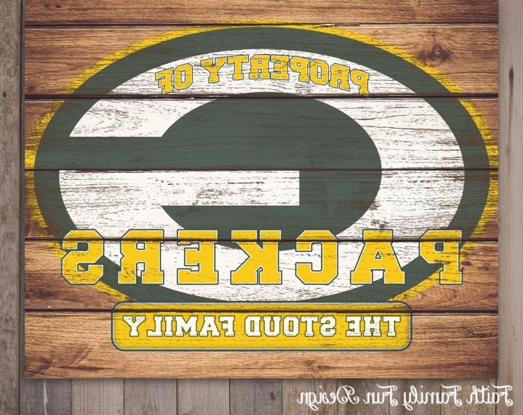 Green Bay Packers Wall Art – Takuice In Elegant Green Bay Packers Regarding Green Bay Packers Wall Art (Image 14 of 20)